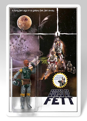 "C2E2 2018 Exclusive ""Bored of Fett"" Star Wars Bootleg Resin Figure by Junk Fed"