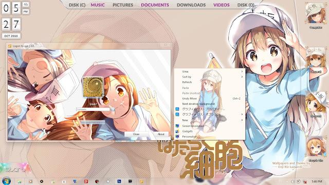 Windows 7 Theme Hataraku Saibou by Enji Riz Lazuardi