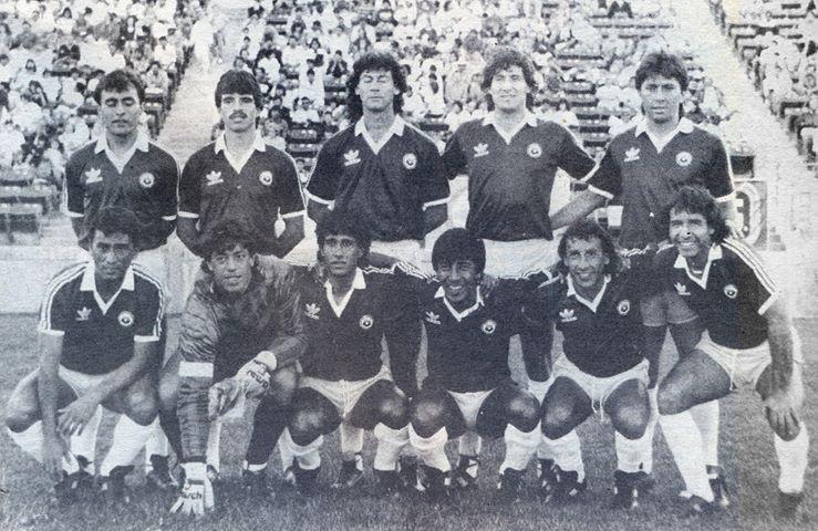 Formación de Chile ante Estados Unidos, amistoso disputado el 5 de junio de 1988
