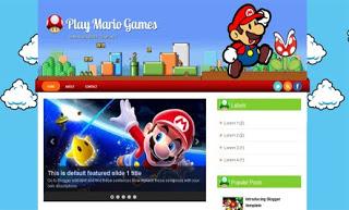 Play Mario Games Blogger Template