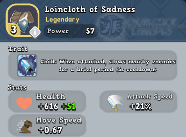 World of Legends - Lioncloth of Sadness