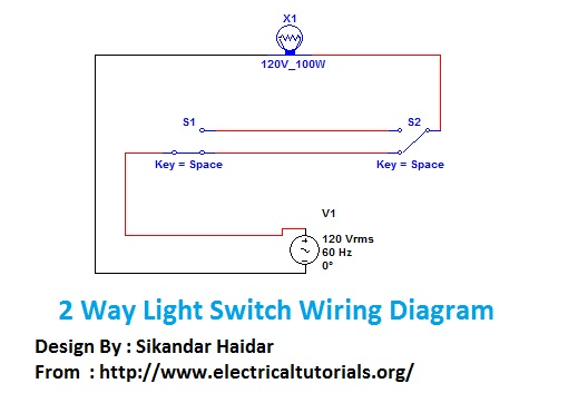 2 way light switch wiring diagram staircase wiring connection2 way light switch wiring diagram
