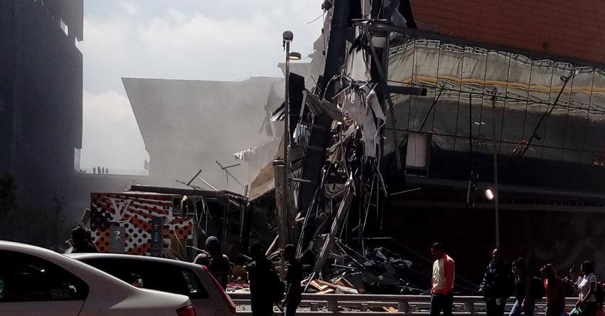 TRAGEDIA EN MÉXICO: Se derrumba centro comercial Artz Pedregal - CdMx