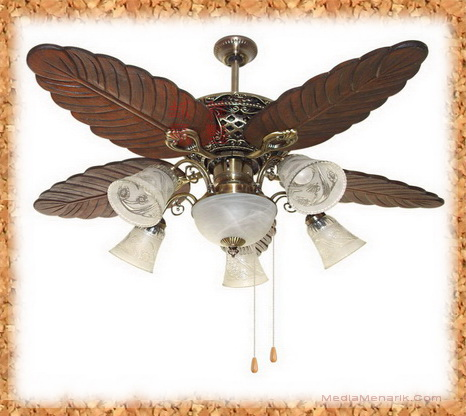 Retro Ceiling Fan With Light