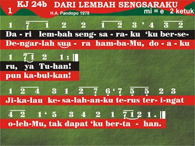 Lirik dan Not Kidung Jemaat 24b