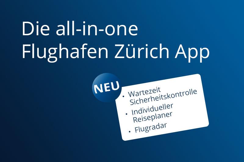 Übers Ziel hinaus - Flughafen Zürich mit spezieller Werbung für die ...