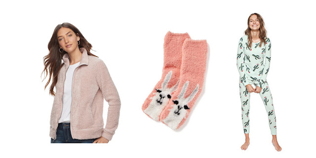 Sherpa Zip-Up Sweatshirt, Fuzzy Llama Socks, Victoria's Secret Cactus Christmas Pajamas, Fashion Blogger, College Blogger, Lifestyle Blogger