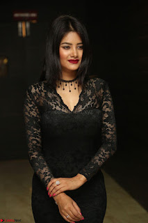 Actress Monica in spicy transparent Black Top at O Pilla Nee Valla Movie Audio Launch Feb 2017 095.JPG