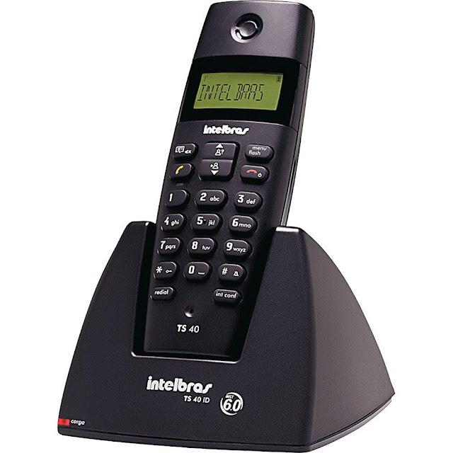 Telefone sem fio digital TS 40 ID Intelbras TS40ID Com Identificação de chamadas