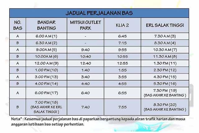 Jadual Perjalanan Bus SMART Selangorku
