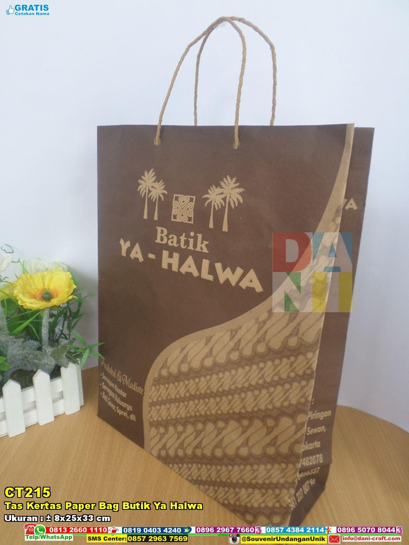 Tas Kertas Paper Bag Butik Ya Halwa  Souvenir Pernikahan