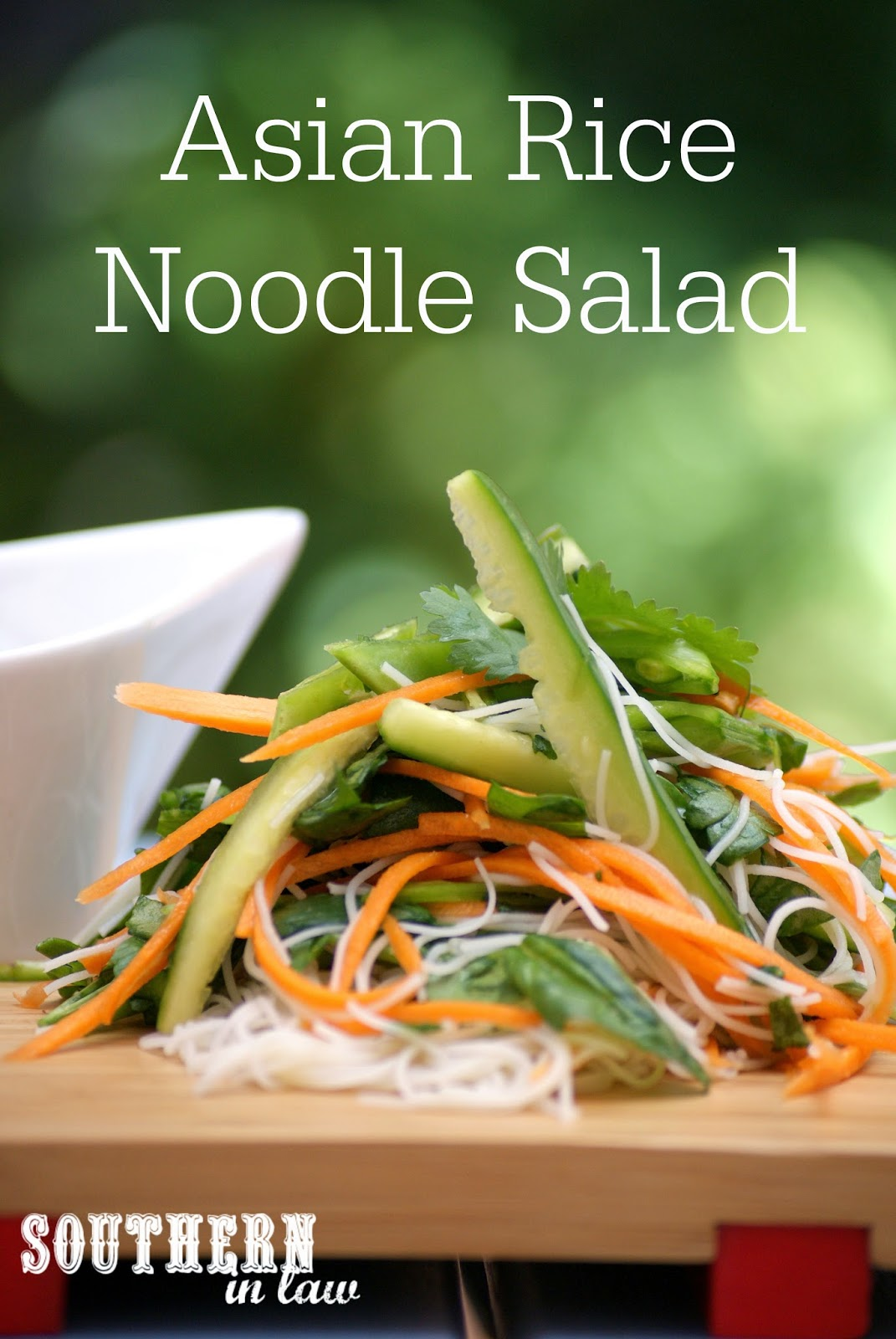 Asian Noodle Salad with Creamy Peanut Dressing Recipe - low fat, gluten free, clean eating friendly, vegan, vegetarian, easy to make salads and sides