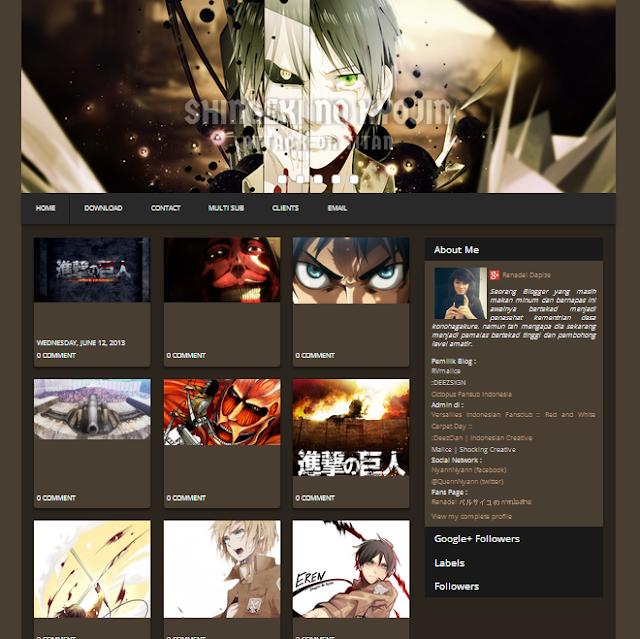 Shingeki No Kyojin - Attack On Titan Blogger Template