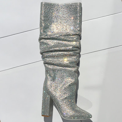 Kandee Jeweled Slouch Boot similar to YSL Diamante Boot