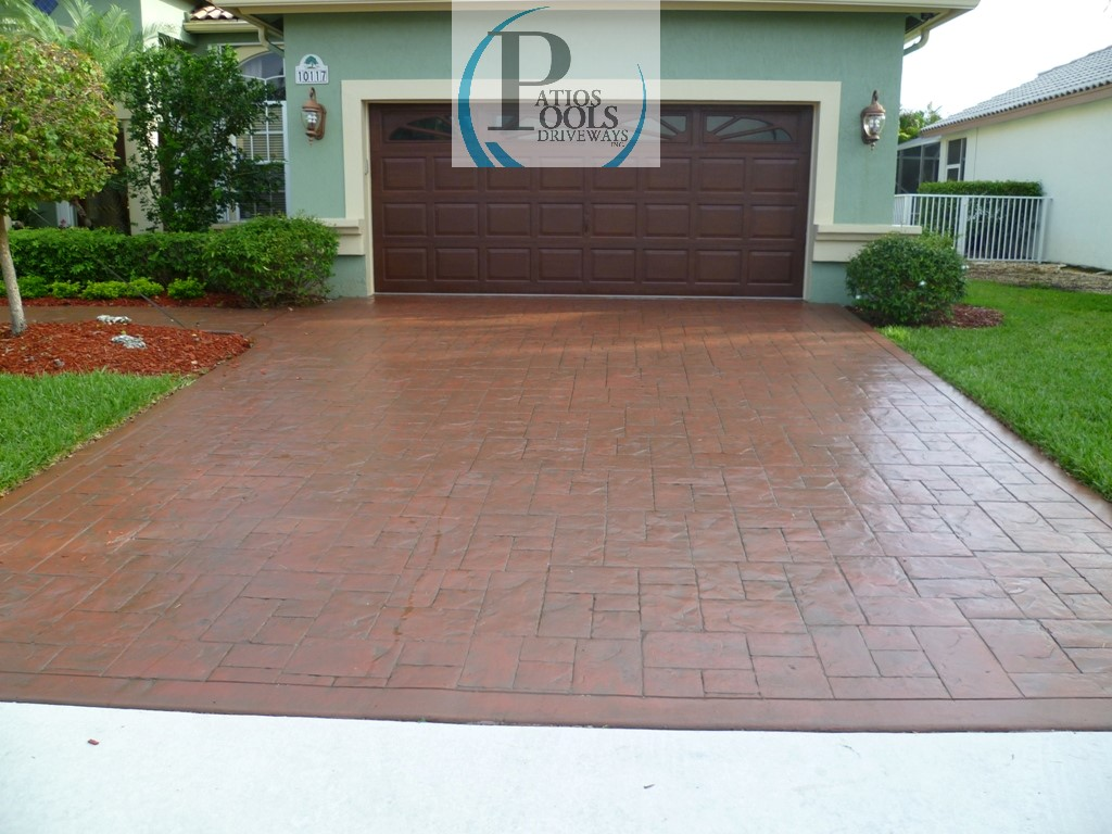 Stamped Concrete Driveways : Decorative concrete the many faces for your driveway