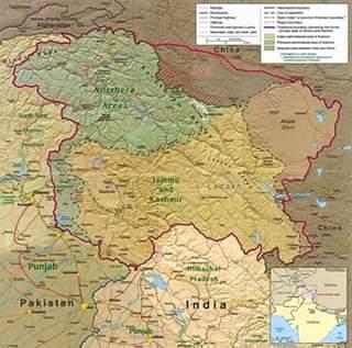 peta wilayah Kashmir