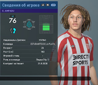 PES 2019 Faces Ethan Ampadu by Andrey93