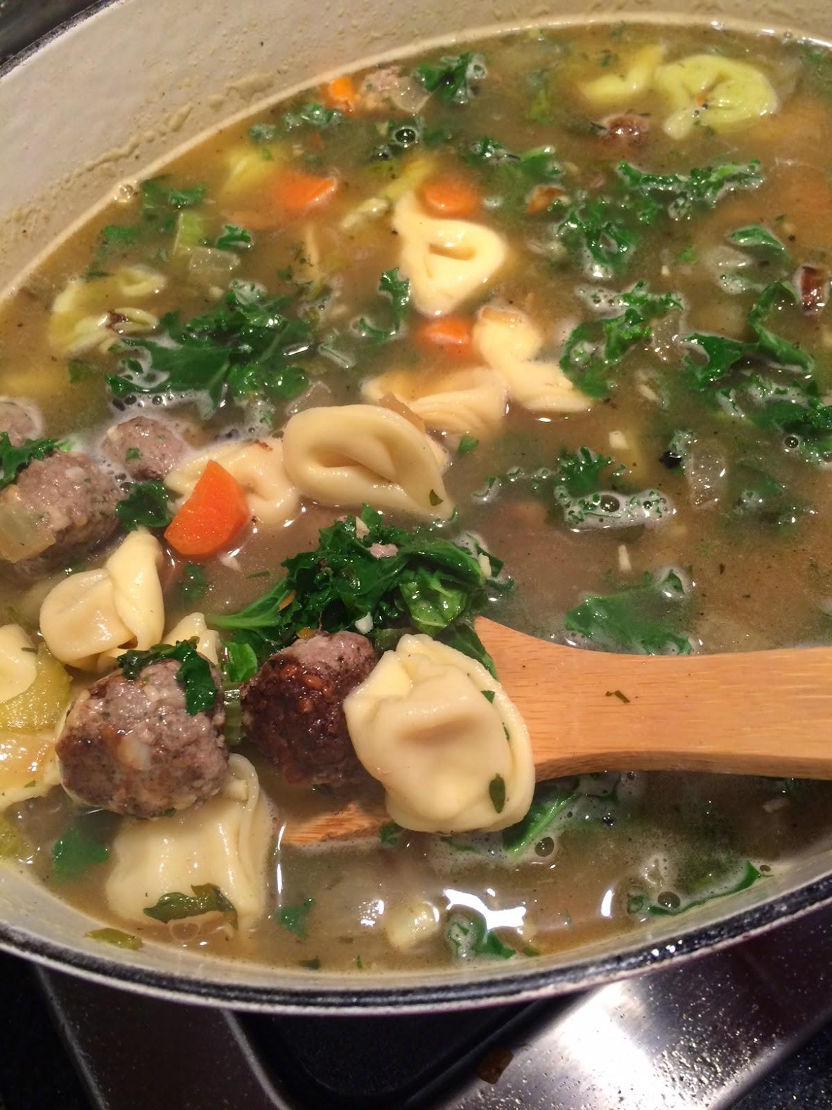 Food Network Meatball Tortellini Soup