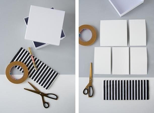 DIY: Schachteln mit Papier oder Stoff auskleiden