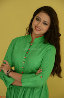 Geethanjali in Green Dress at Mixture Potlam Movie Pressmeet March 2017 016.JPG