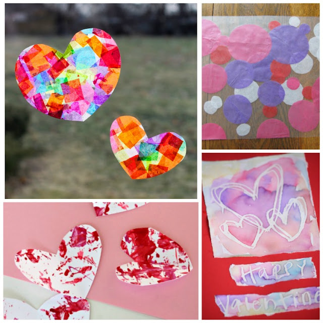 Valentine's Day Process Art Projects- Great collection of 20 ideas for Valentine process art for toddlers, preschoolers, kindergartners, and elementary kids. You'll find plenty of hearts, painting, stamping, collages, sculpture, and more!