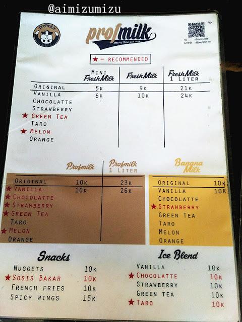 Susu berbagai rasa, strawberry, chocolatte, banana, melon dll