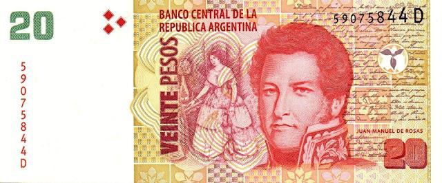 Argentina Banknotes 20 Pesos banknote 2003 Juan Manuel de Rosas