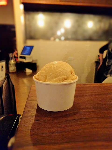 Signature Bourbon ice cream at Prohibition Creamery in Austin, Texas