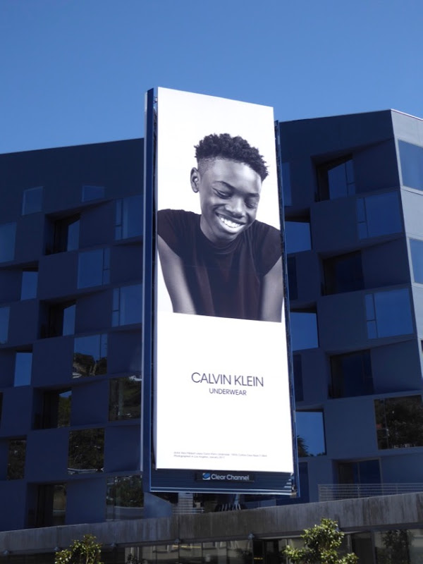 Ashton Sanders Calvin Klein Underwear billboard
