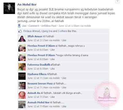 Al-Fatihah Buat An Mohd Nor