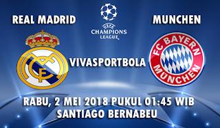 Prediksi Bola Real Madrid vs Bayern Munchen 2 Mei 2018