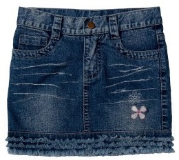 Foto de una minifalda jean rasgada