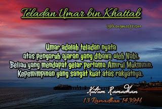 Kultum Ramadhan hari ke 13 teladan umar bin Khattab