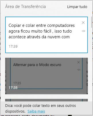 windows10-v1809-area-de-transferencia-nuvem