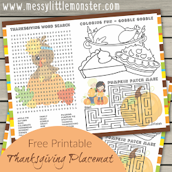 graphic regarding Printable Placemats for Preschoolers titled Vibrant Paper Turkey Craft (additionally turkey template!) - Messy