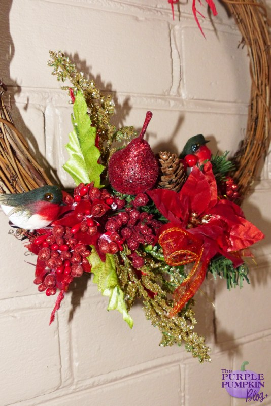 Rattan & Raffia #Christmas Wreath | The Purple Pumpkin Blog | #shop #cbias