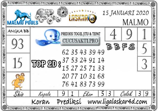 Prediksi Togel MALMO LASKAR4D 15 JANUARI 2020