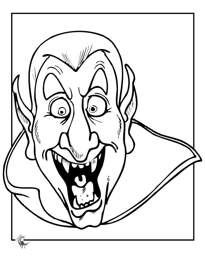 printable scary halloween coloring pages - photo#17