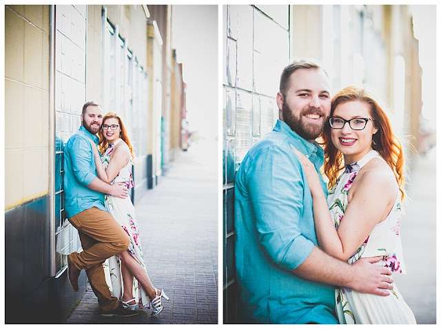 engagement photos downtown Terre Haute