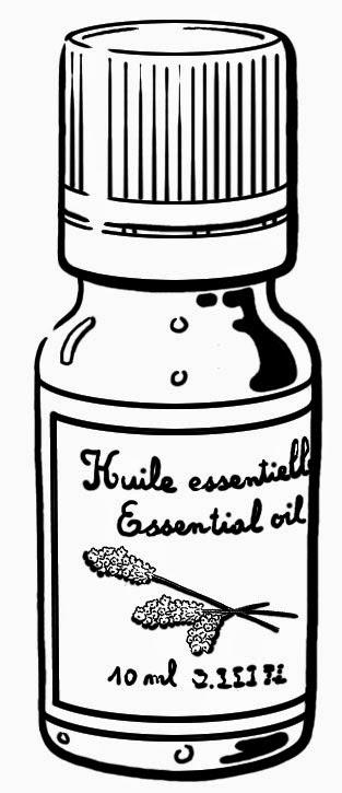 Flacon d'huile essenteille
