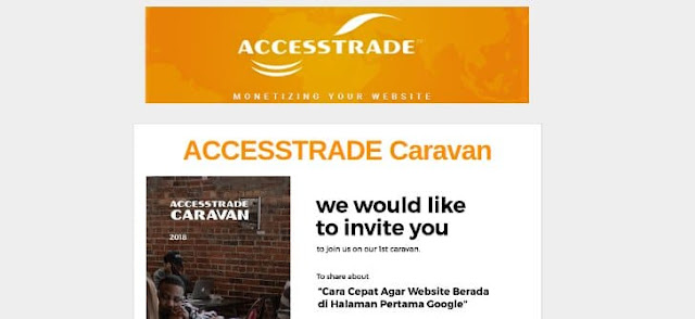 accestrade caravan 2018 workshop blogger umum