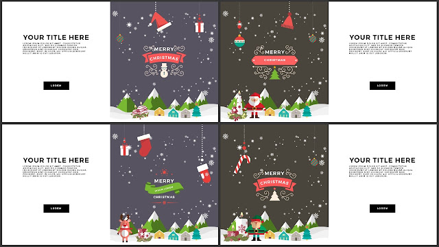 Animated Christmas Free PowerPoint Template Slide 17-20