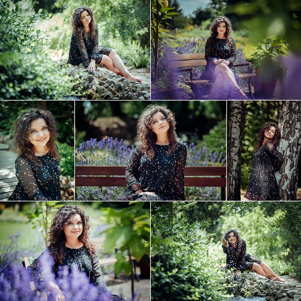 Sesja kobieca - Karolina - czarna sukienka | Ogród Botaniczny | Fotograf Lublin