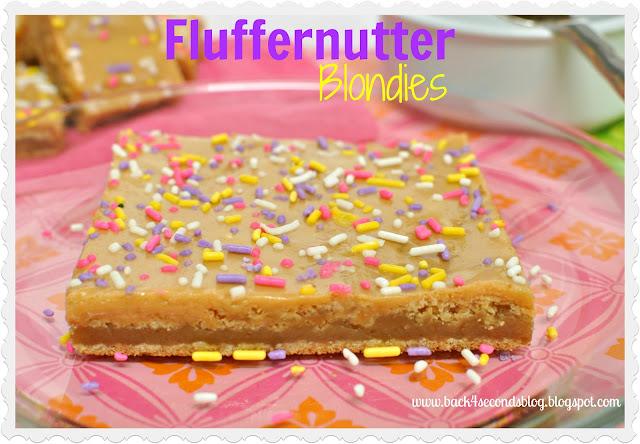 Fluffernutter Blondies #peanutbutter #marshmallow #fluff #blondies #sprinkles
