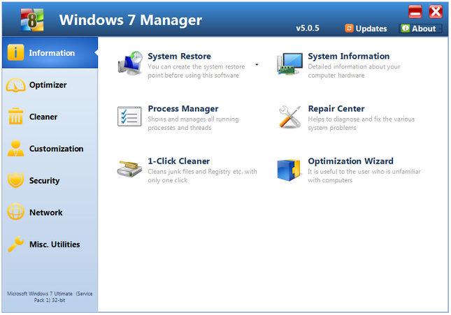 Windows 7 Manager Full Crack