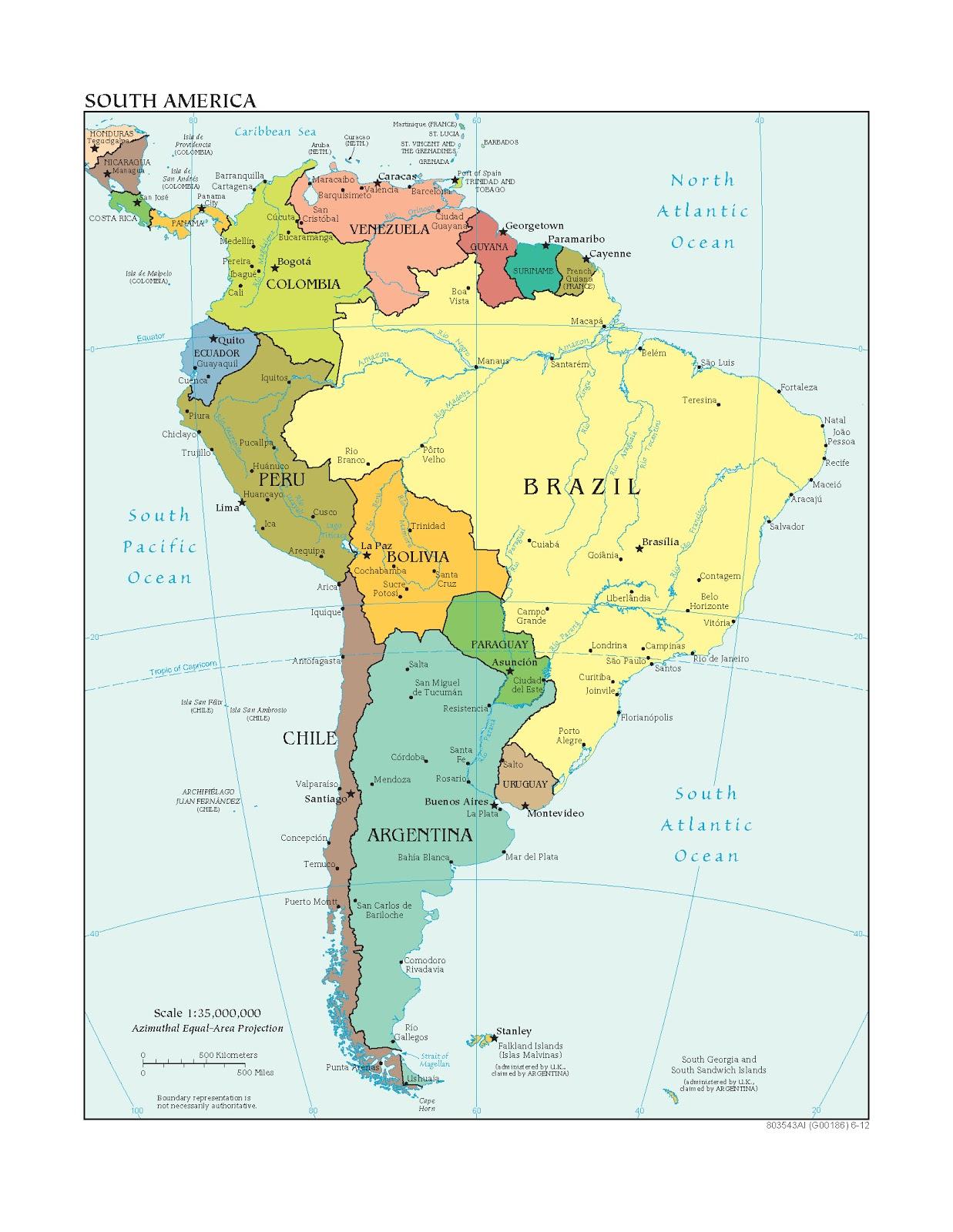 Lateinamerika Karte Länder.Südamerika Weltatlas
