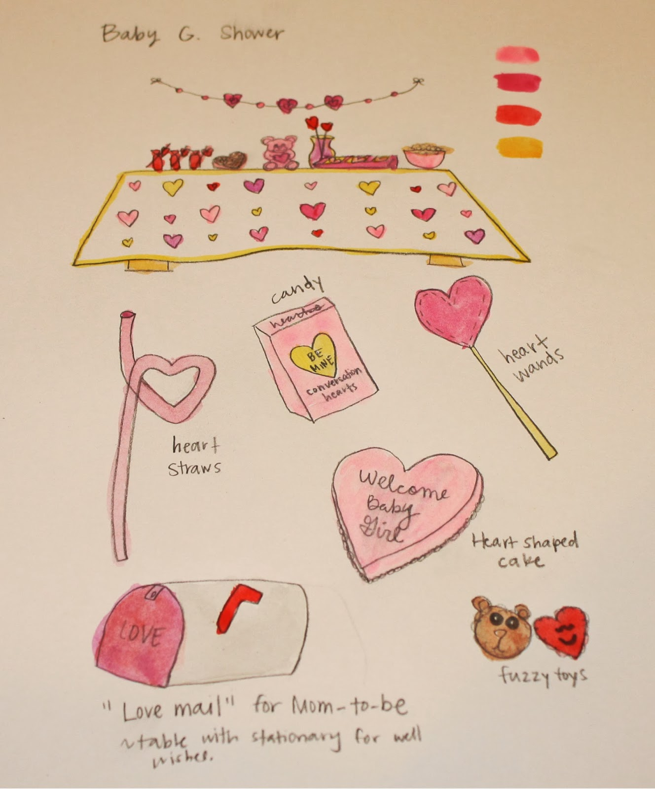 Craft E Magee Valentine S Day Themed Baby Shower