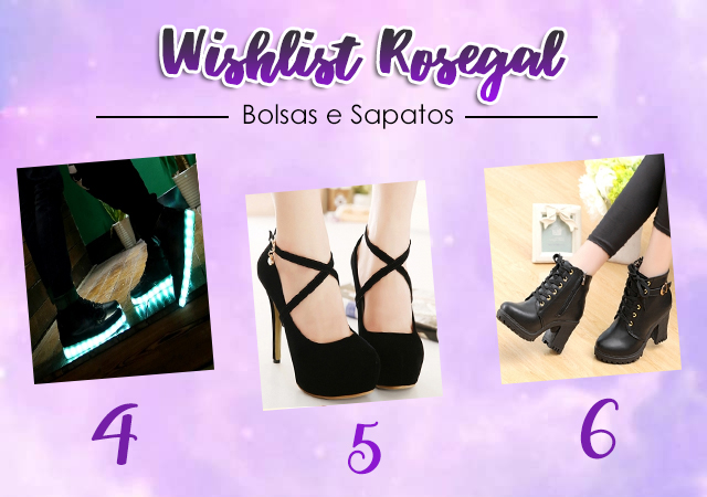 Wishlist da China - Rosegal #02 - Bolsas e Sapatos