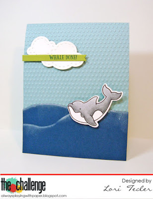Whale Done card-designed by Lori Tecler/Inking Aloud-stamps from Avery Elle