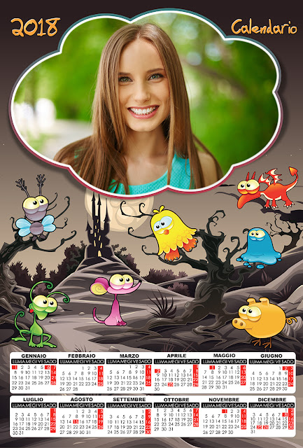 Calendario 2018, per bambini